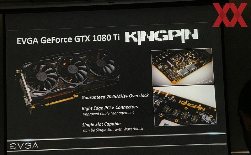 EVGA reveal their GTX 1080 Ti KINGPIN edition