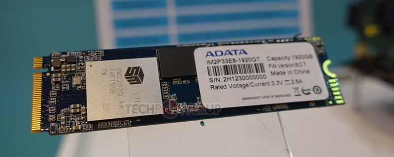 ADATA reveals a pair of mainstream M.2 NVMe SSDs