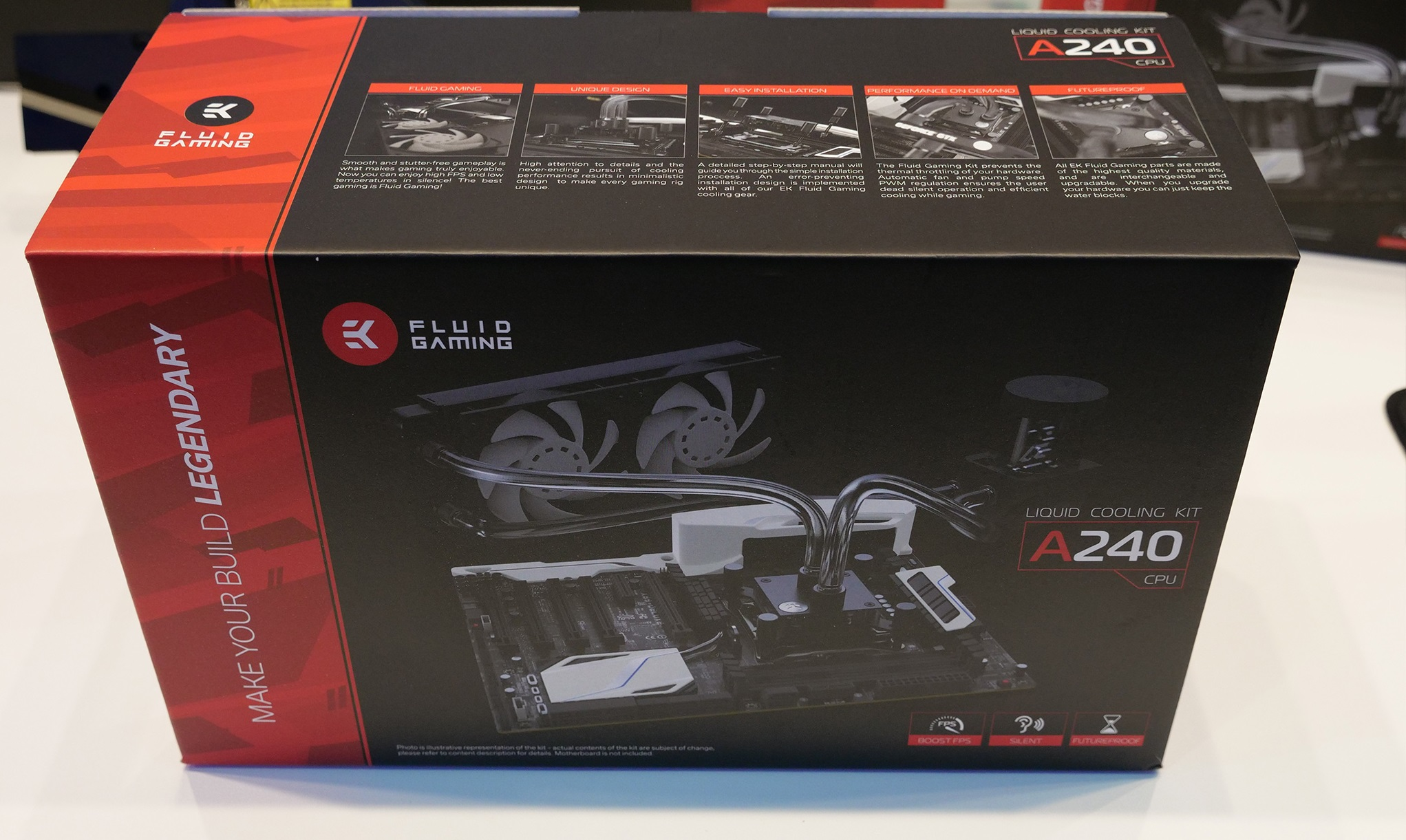 EK showcases their new Fluid Gaming series of custom water cooling kits