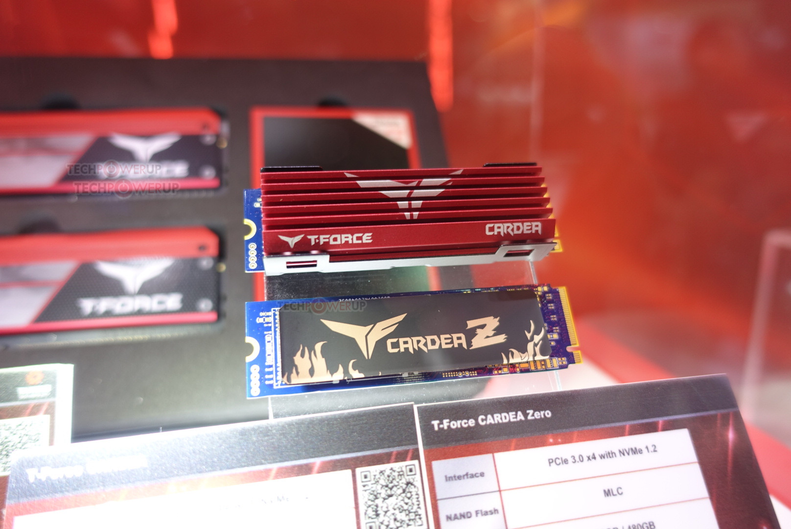 Team Group showcase their new Cardea-Z series of NVMe SSDs