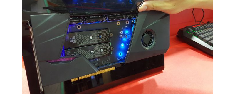 MSI reveal an M.2 NVMe SSD RAID card