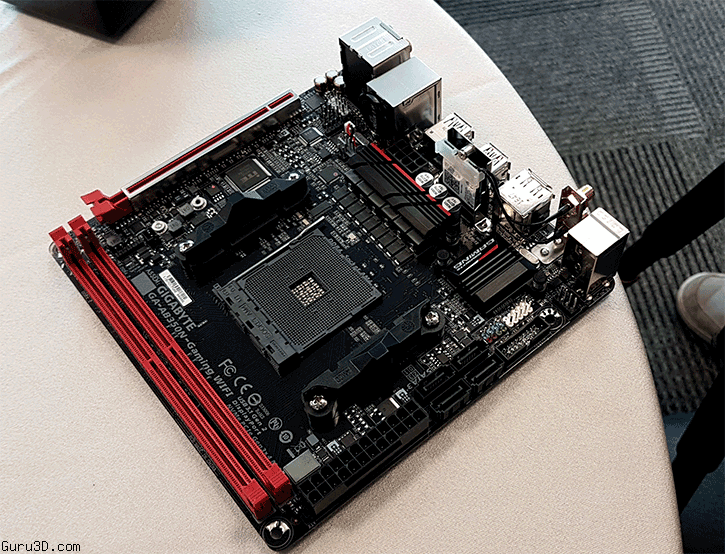 Gigabyte showcases their first Ryzen Mini ITX motherboard