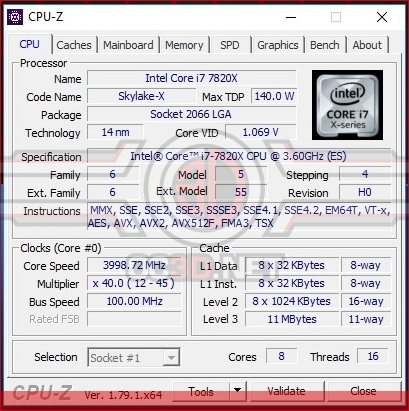 Intel Core i7 7820X Skylake X Review