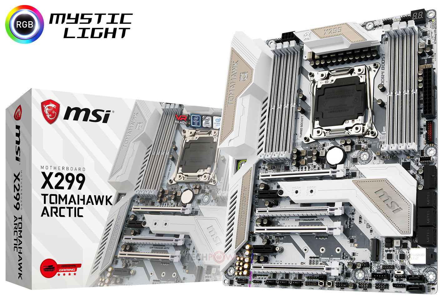 MSI showcase their X299 Tomahawk Arctic motherboard