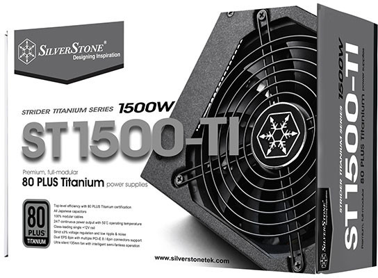 Silverstone reveals their Strider Titanium 1100W+ PSUs