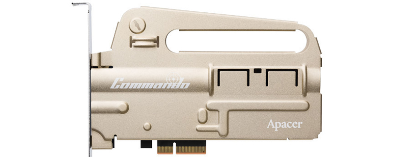 Apacer introduces their gun-themed PT920 Commando PCIe NVMe SSD