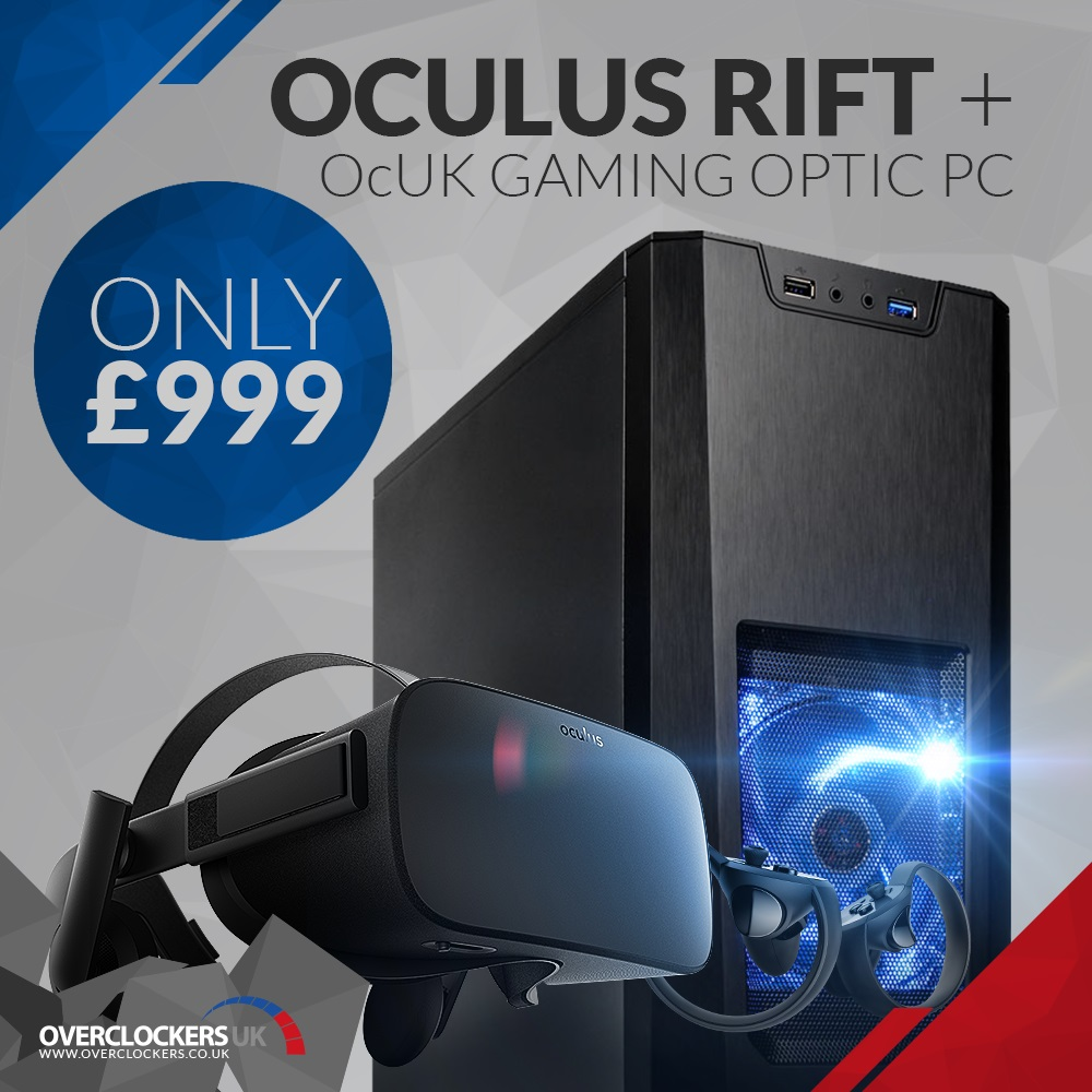 OcUK unleashes their £999 Optic PC Oculus Rift VR Bundle