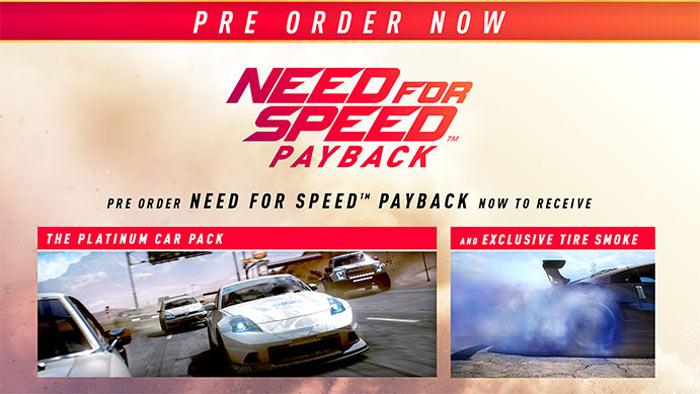 Need for Speed: Payback Pre-order