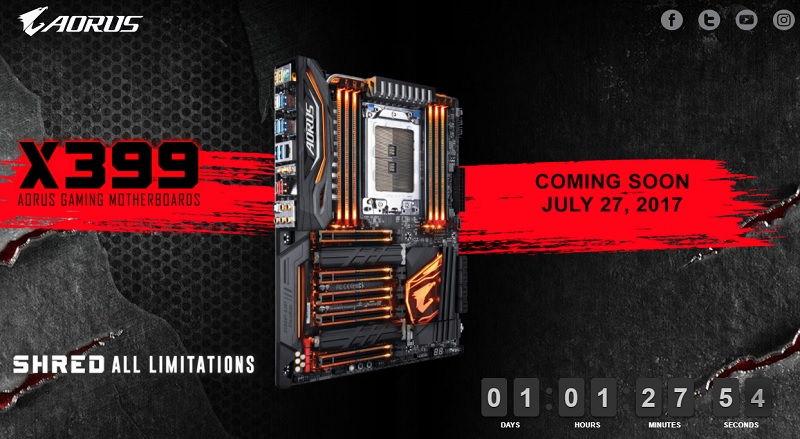 It looks like X399 pre-orders will start in less than 24-hours
