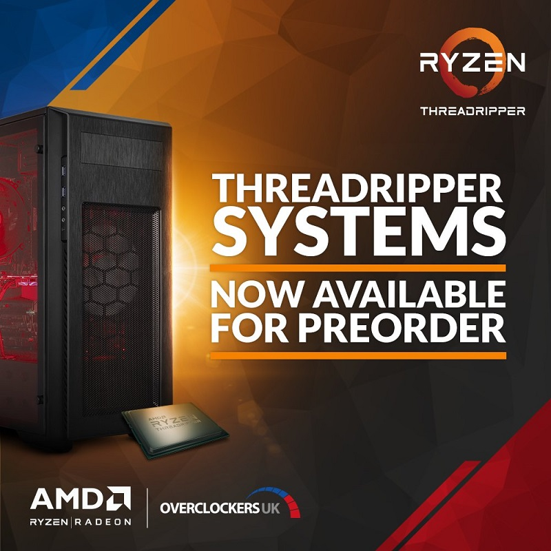 AMD Ryzen Threadripper systems are now available to order in the UK