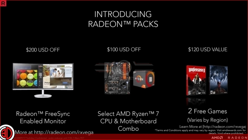 AMD has officially announced their RX Vega 56 and 64 GPUs