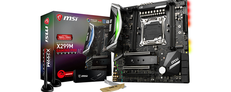 MSI reveals their MATX X299M Gaming Pro Carbon AC Motherboard