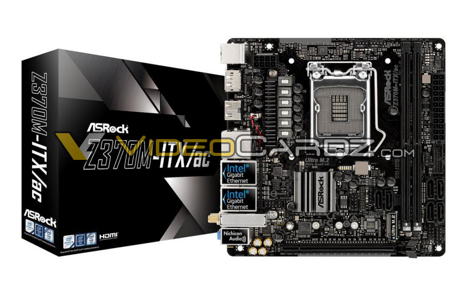 Six AsRock Z370 motherboards have been revealed