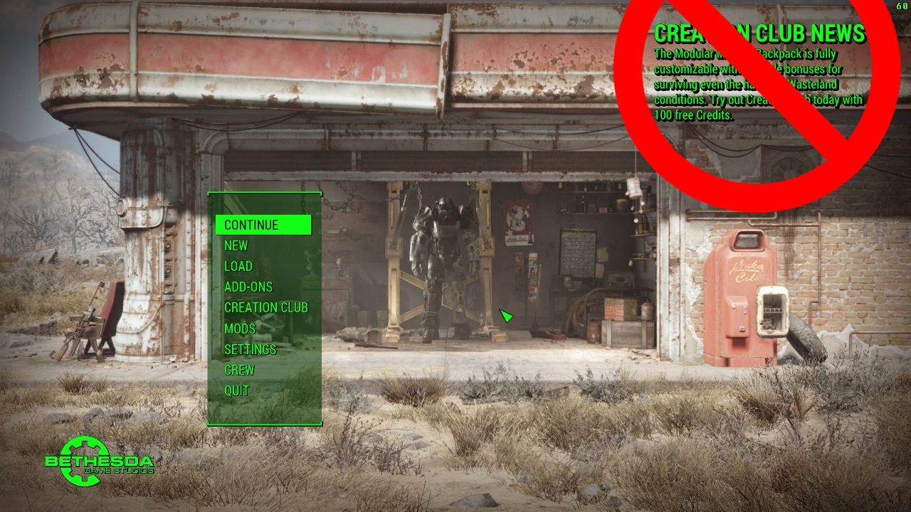 One of Fallout 4's most popular mods removed Creation Club news from the game