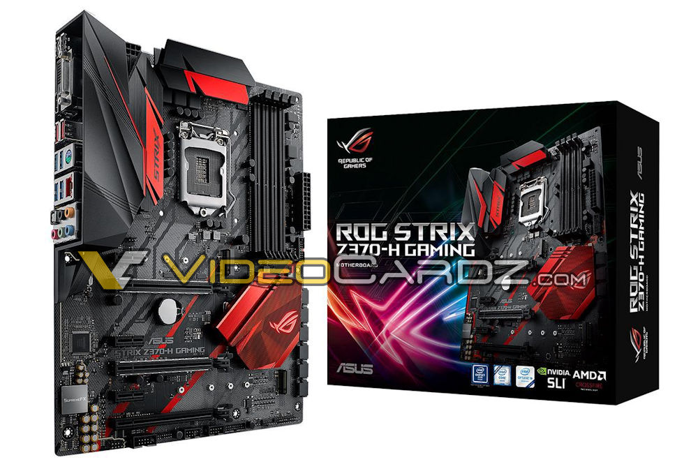 Seven ASUS Z370 motherboard designs have been leaked