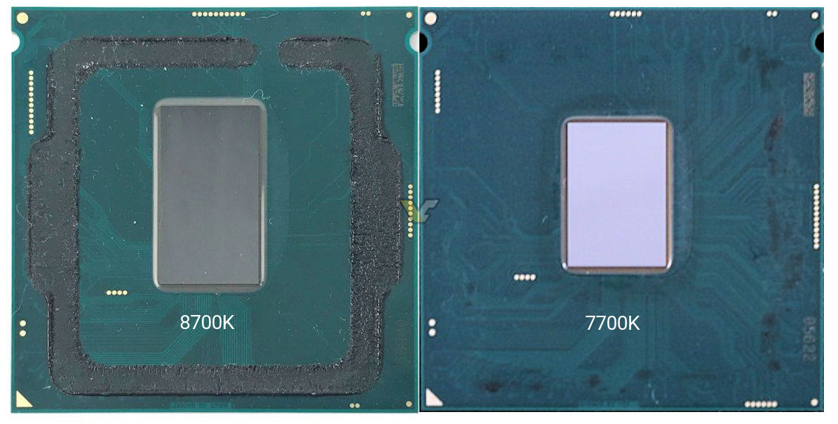 Intel's i7 8700K has been delidded and pictured