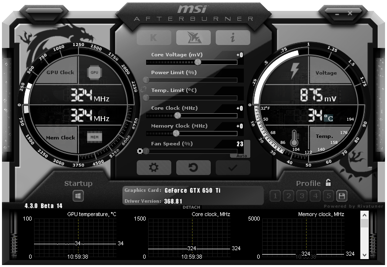 MSI Afterburner 4.4.0 Beta 19 includes support for Nvidia's GTX 1070 Ti