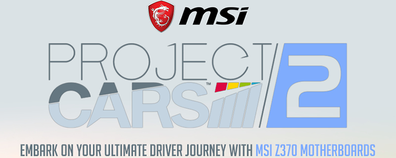 MSI bundles Project Cars 2 with select Z370 motherboards