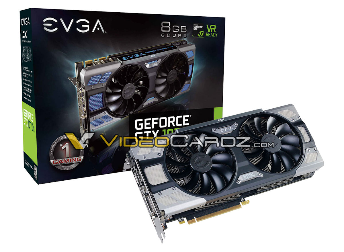 Four EVGA GTX 1070 Ti models have been pictured