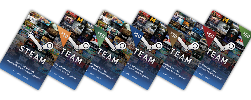 Steam Digital Gift Cards are now available online