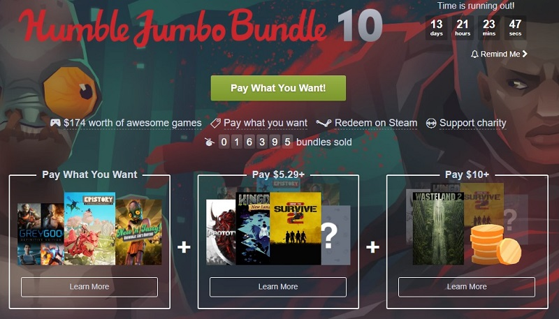 The Humble Jumbo Bundle 10 is now live