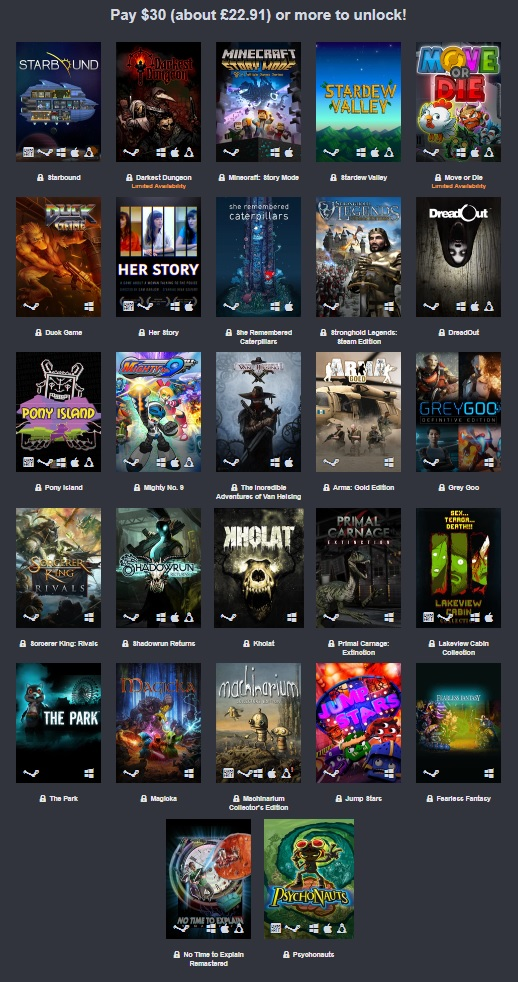 The Humble Care Package Bundle is now Live