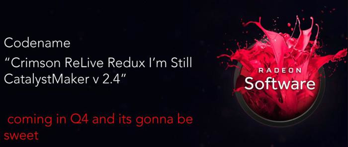 AMD's next major driver revision, Crimson ReLive Redux, is rumoured to have a performance OSD option