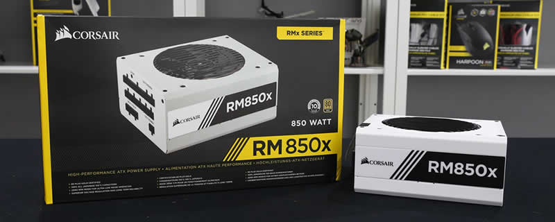 Corsair RM850x White Edition PSU - RushKit