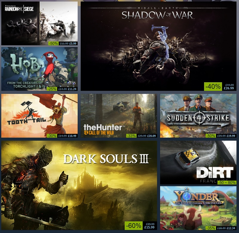 Steam's Autumn Sale has officially started