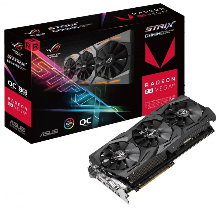 ASUS' RX Vega 64 Strix GPU has been listed at a UK retailer