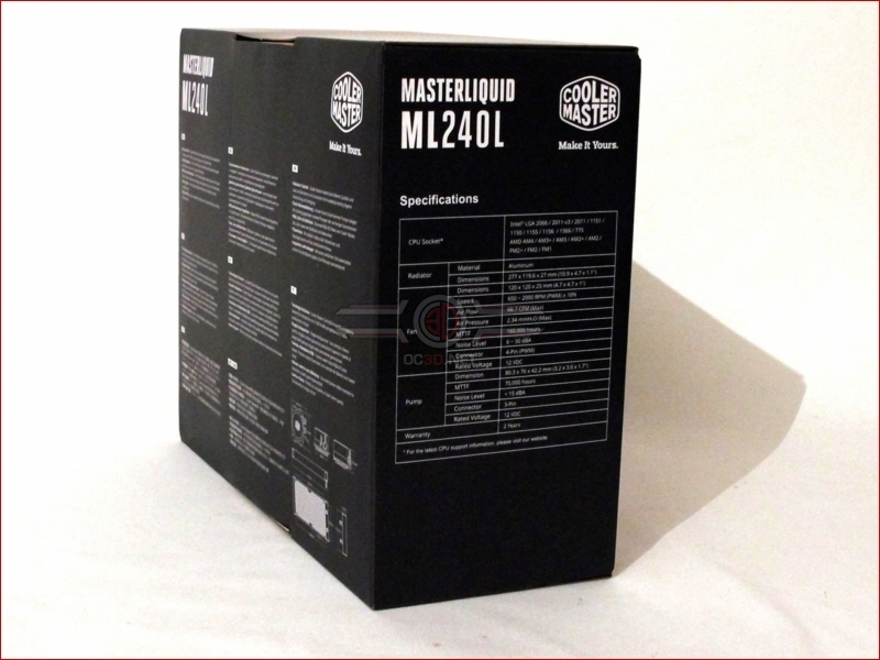 CoolerMaster MasterLiquid ML240l RGB Review