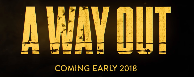 A Way Out will release in March 2018 - Only one copy is needed to play online co-op
