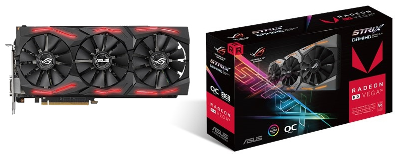 ASUS releases the specifications of their RX Vega 56 Strix OC graphics card