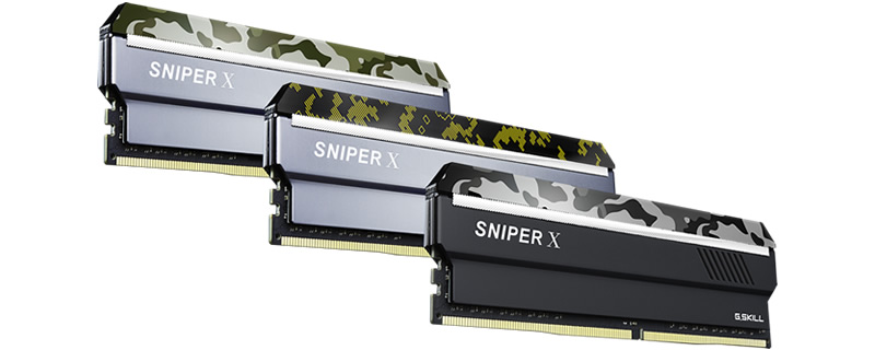 G.Skill reveals their new Sniper X series of DDR4 memory