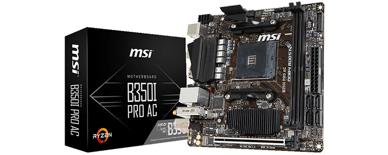 MSI reveals their B350I Pro AC AM4 motherboard