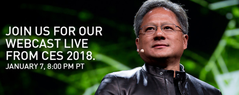 Watch Nvidia's CES 2018 Keynote here