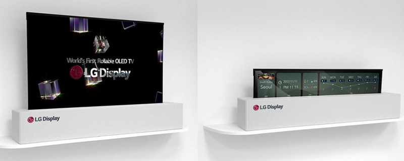 LG showcases a 65-inch rollable display