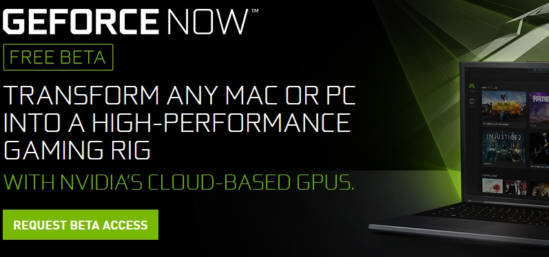 Nvidia Opens up Geforce Now's Beta to PC gamers
