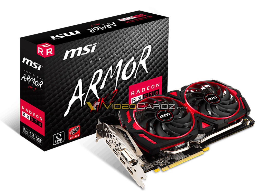 MSI's RX 570 ARMOR MK2 GPU has been pictured