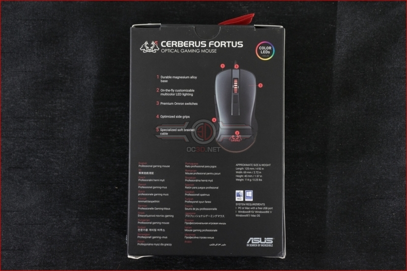 ASUS Cerberus Fortus Mouse Review