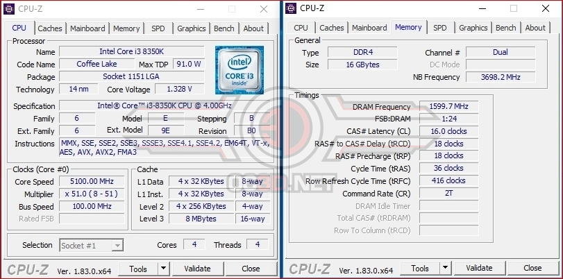 Intel 8th Generation Core i3-8350K Overclock