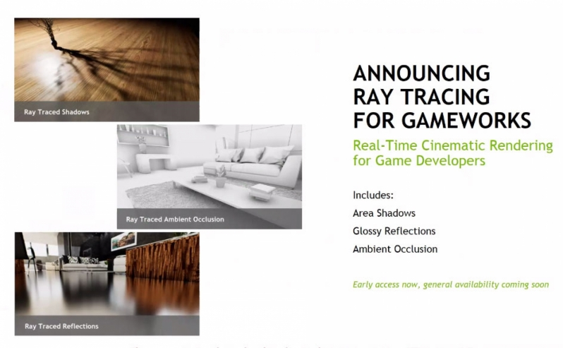Nvidia reveals their RTX Raytracing Technology alongside new GameWorks modules