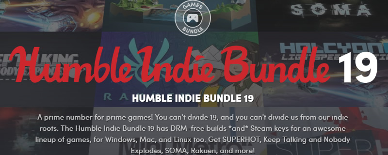 The Humble Indie Bundle 19 is now live