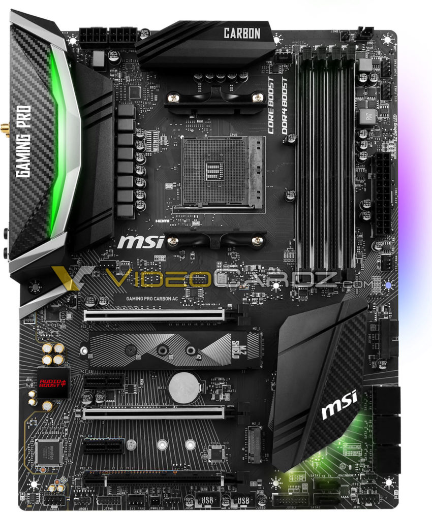 MSI's X470 Gaming Pro Carbon AC motherboard has been pictured
