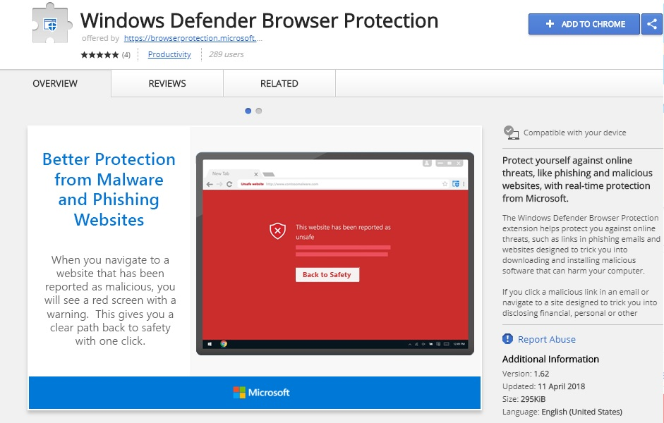 Microsoft releases Windows Defender Extension for Chrome to protect users