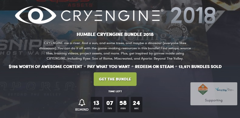 The Humble CRYENGINE 2018 Bundle has been released
