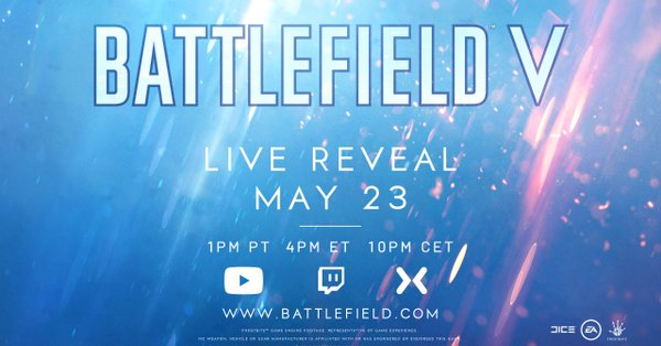 The next Battlefield will be revealed on May 23rd