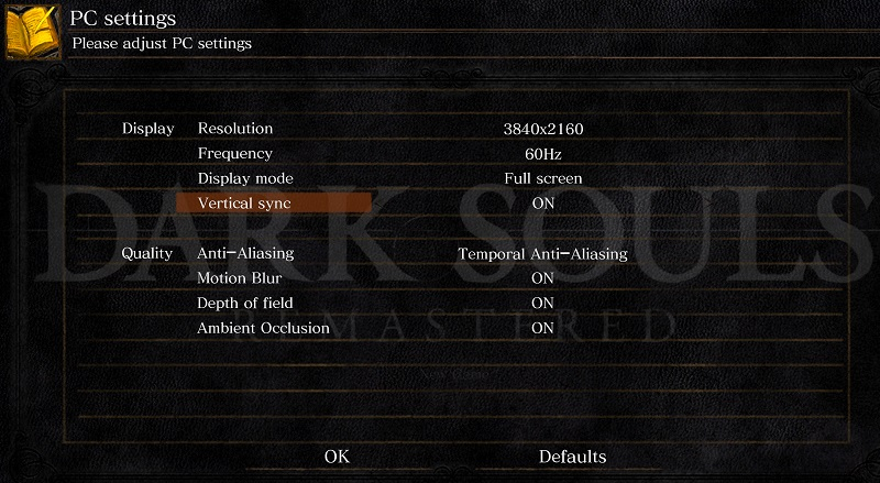 Dark Souls: Remastered's graphical options are atrociously limited