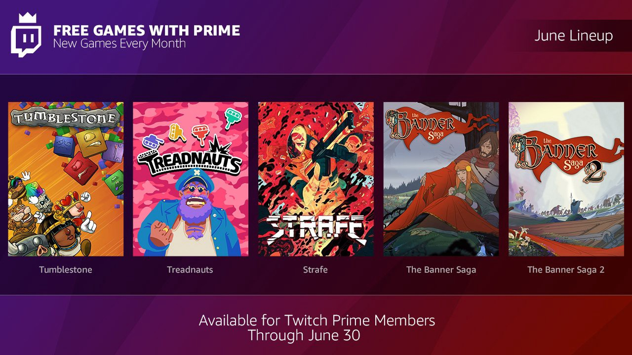 Twitch plans to give away five games to Prime subscribers next month