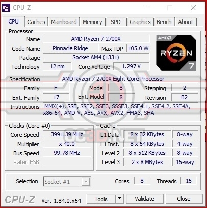 AMD Ryzen 7 2700X Overclocking/Undervolting